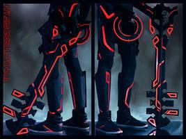 Ends of Earth Keyblade - TRON by vvmasterdrfan
