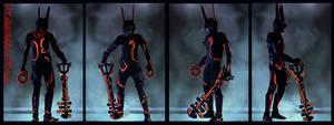 Kingdom Hearts BBS Terra + TRON Legacy by vvmasterdrfan