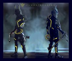 KH:3D Tron x Armored Ventus Nightmare by vvmasterdrfan