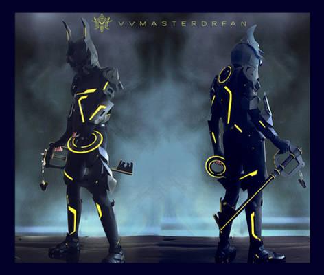 KH:3D Tron x Armored Ventus Nightmare