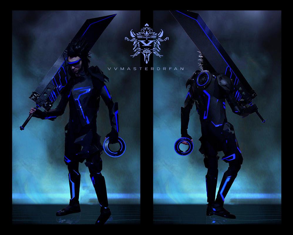 Zack Fair x TRON: Legacy by vvmasterdrfan