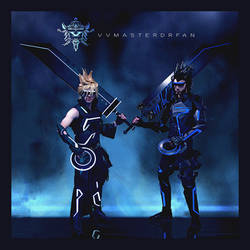 Cloud Strife and Zack Fair - FFVII x TRON