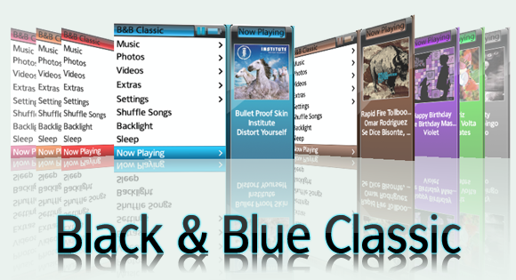iPod - Black and Blue Classic by RaiderXXX