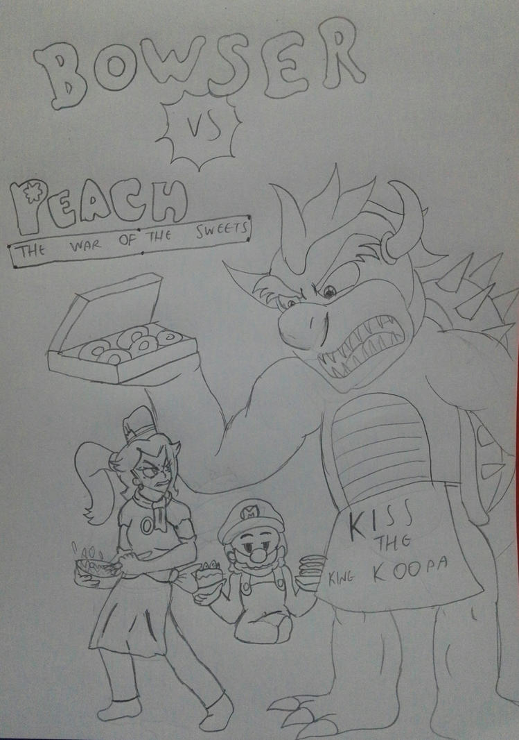 Bowser vs. Peach by Luca-pirate