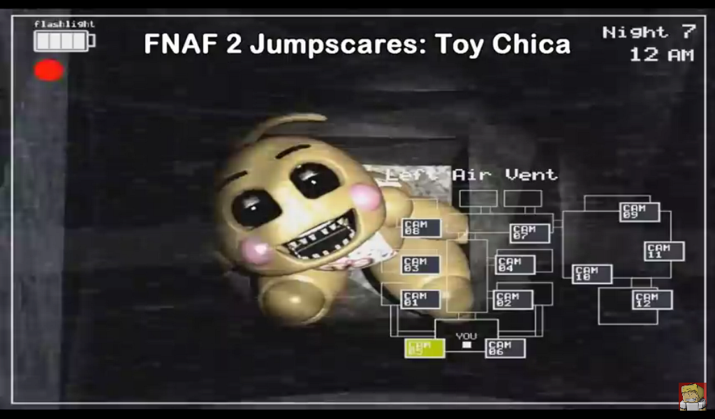 Fnaf 2 jumpscare toy chica by woyfan123456 on deviantart