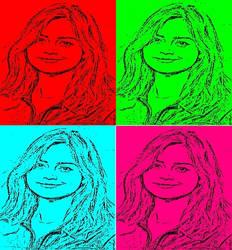 Jenna Coleman In Pop Art by freddie64