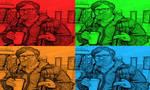 Chuck Klosterman In Pop Art-5 by freddie64
