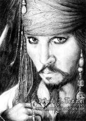 Retrato do Cap. Jack Sparrow by deboratsuki