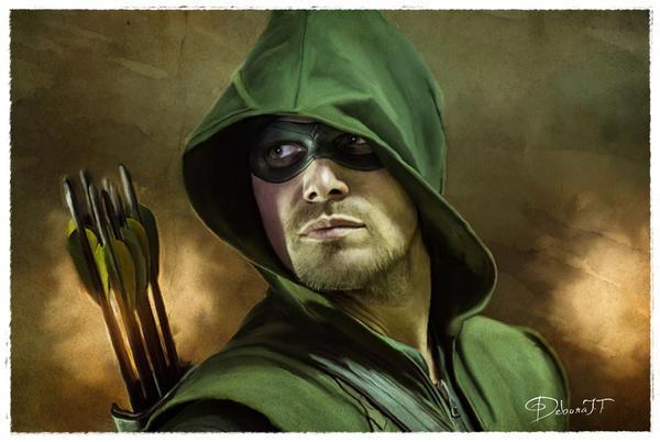Arrow - Stephen Amell Smudge Art by deboratsuki