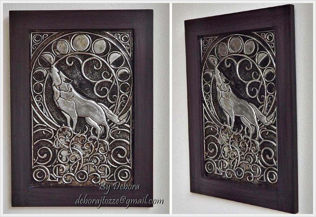 Lobo em Art Nouveau by deboratsuki