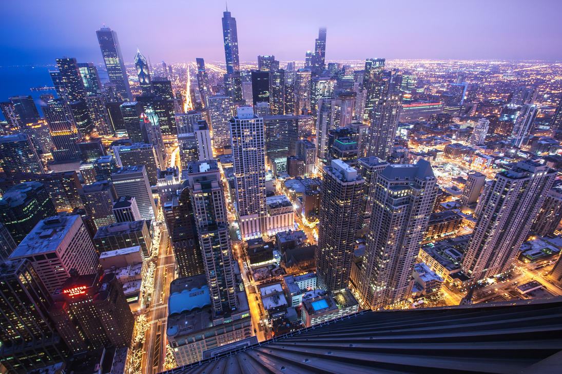 Chicago at Dusk by 5isalive