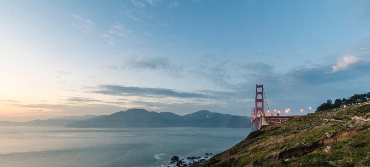 Golden Gate Sunset by 5isalive