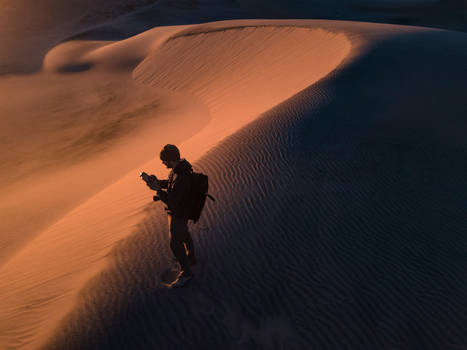 Mojave Desert Drone Selfi