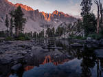 Golden Hour Reflection in the High Sierra