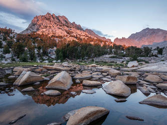 Golden Hour Reflection in Kings Canyon