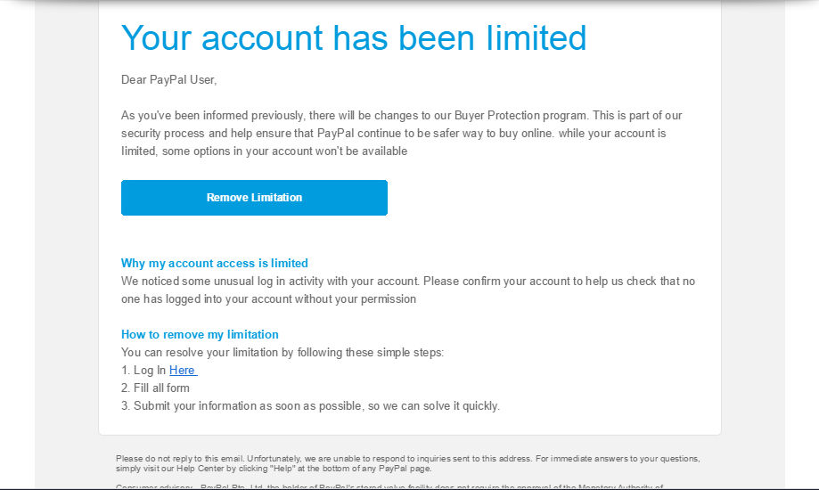 A PSA about Paypal phishing scams by Kariosa-Adopts on
