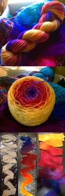 Colorado Sunset - Hand Dyed Yarn by Kariosa-Adopts