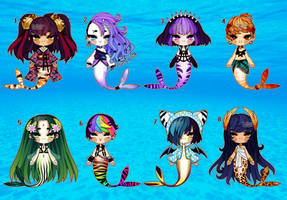 Set Price Mermaids (closed) by Kariosa-Adopts