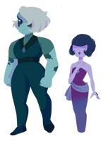 Musgravite and Ocean Jasper by Unevenminded