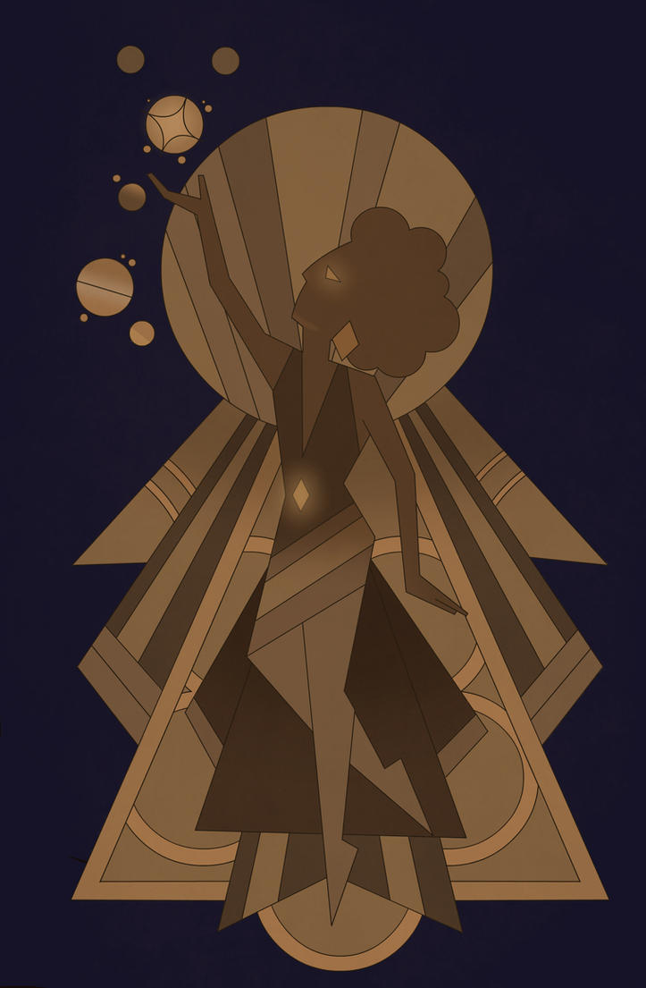 Brown diamond mural by unevenminded on deviantart for Yellow diamond mural