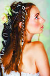 young bride with braided hair