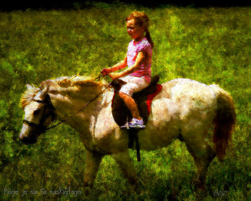 Paige on her 5th birthday by chemoelectric