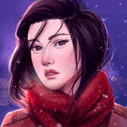 Mikasa in the Snow