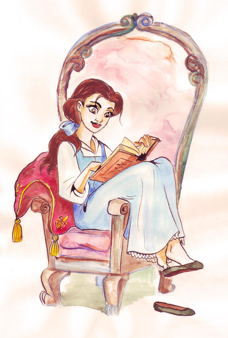 Shhh, she's reading. by TaijaVigilia