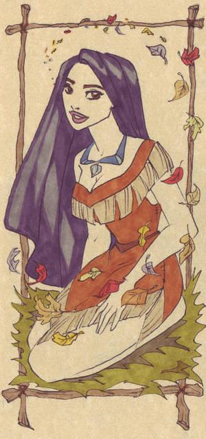 Pocahontas on parchment