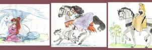 Disney girls and horses II by TaijaVigilia