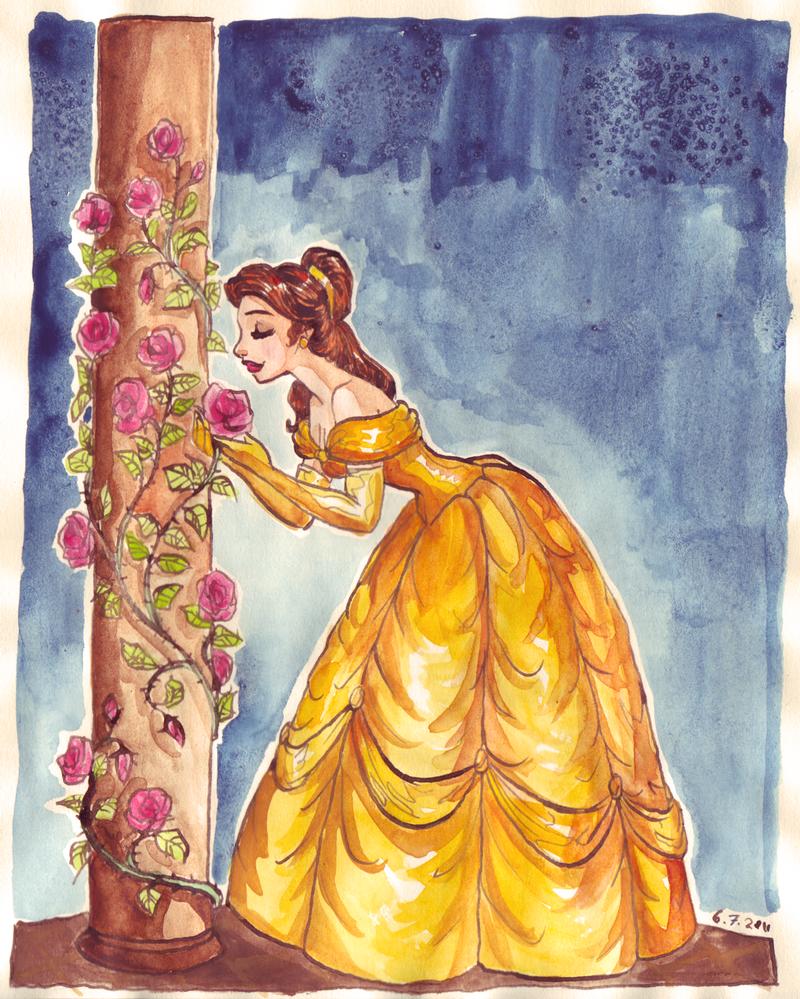 [FanArts] La Belle et la Bête ! Beauty_and_roses_by_taijavigilia-d3l7fdq