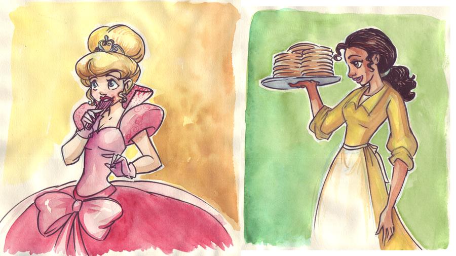 Lottie and Tiana by TaijaVigilia