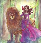 The Lion and the warrior by TaijaVigilia
