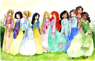 44444- Princesses in hanboks
