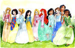 44444- Princesses in hanboks