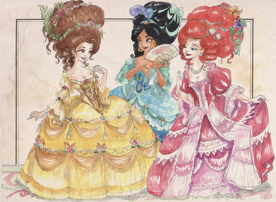 Rococo Princesses by TaijaVigilia