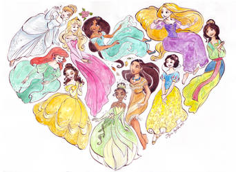 I Heart Princesses by TaijaVigilia