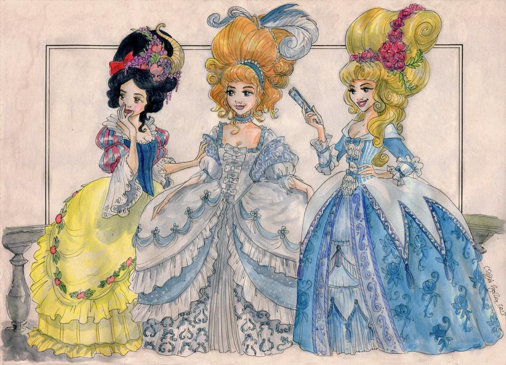 Rococo princesses part ii by taijavigilia on deviantart for French rococo fashion