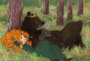 A bear and a girl