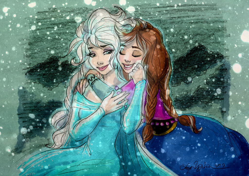 Frozen Sisters by TaijaVigilia on DeviantArt