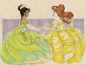 Tiana and Belle