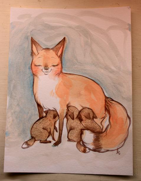 Mamma Fox by lindsaycampbell