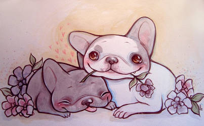 Frenchie Commission by lindsaycampbell