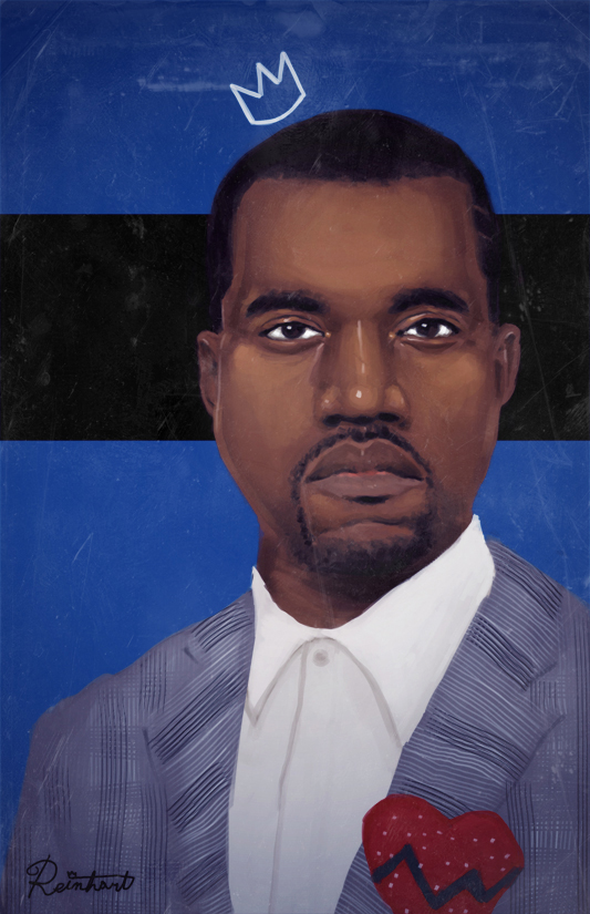 Kanye West Painting by nickreinhart