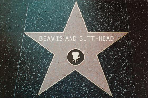 Beavis and Butt-Head's Star on the Walk of Fame by hamursh