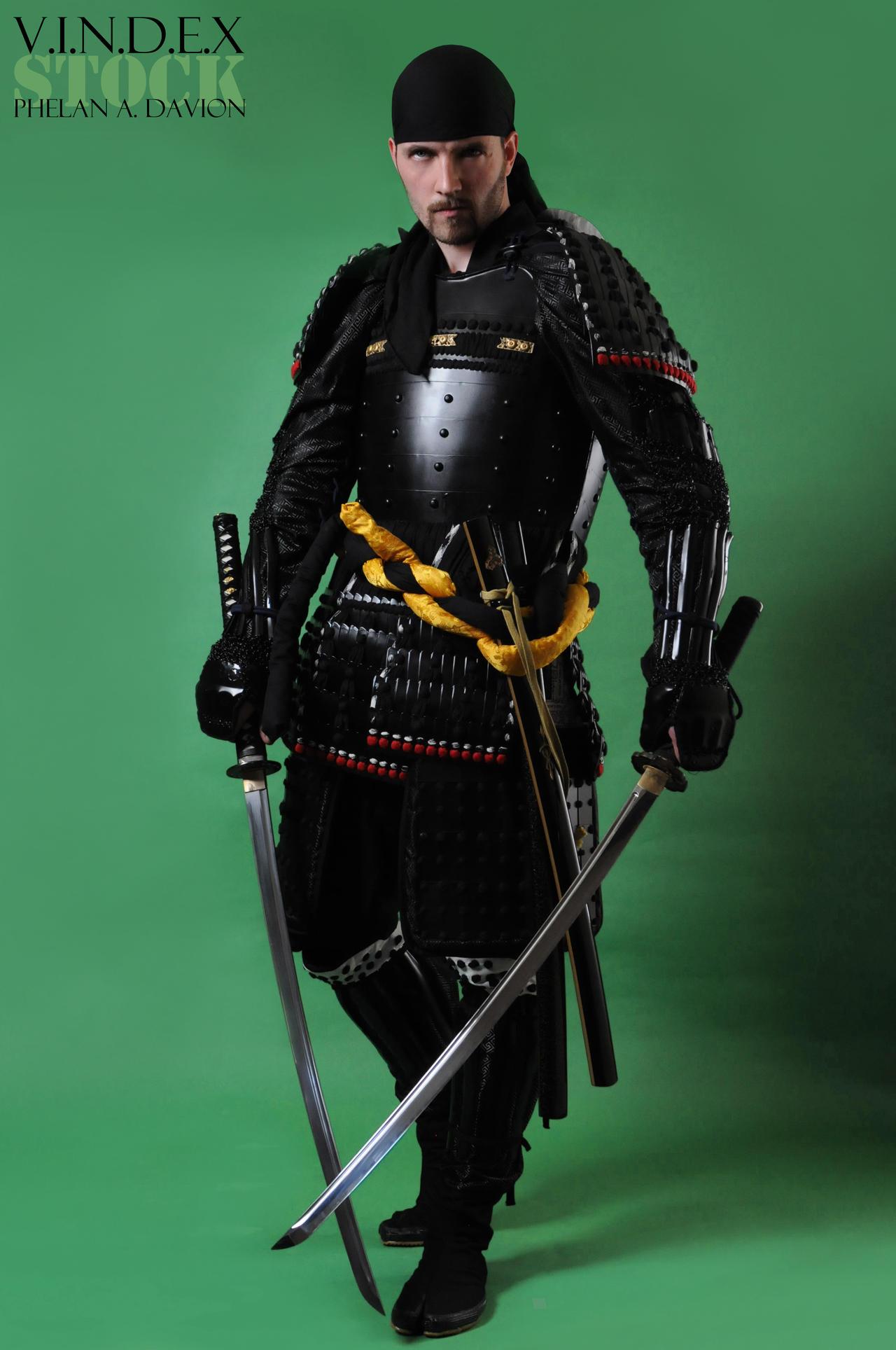 Caucasian Samurai STOCK II by PhelanDavion