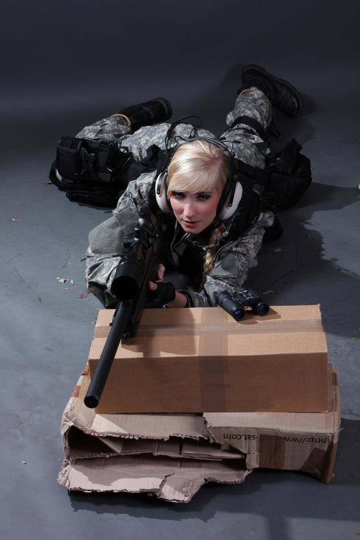 Female Sniper STOCK  VIII by PhelanDavion
