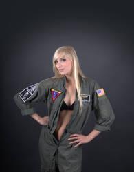 Female Fighter Pilot Pin Up STOCK by PhelanDavion