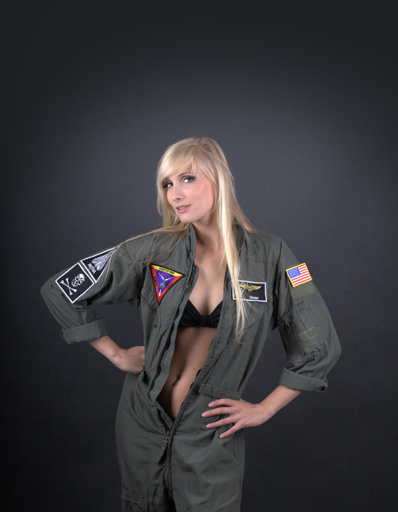Female Fighter Pilot Pin Up STOCK by PhelanDavion