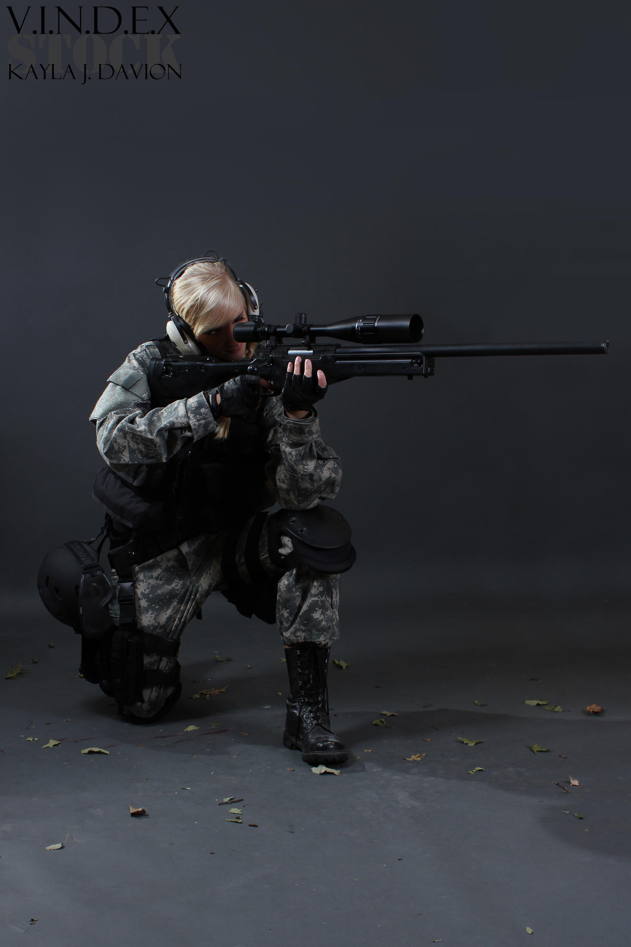 Female Sniper STOCK IV by PhelanDavion